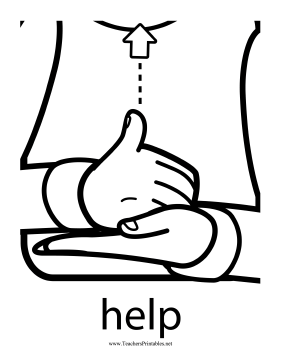 Since babies often need assistance, this printable sign