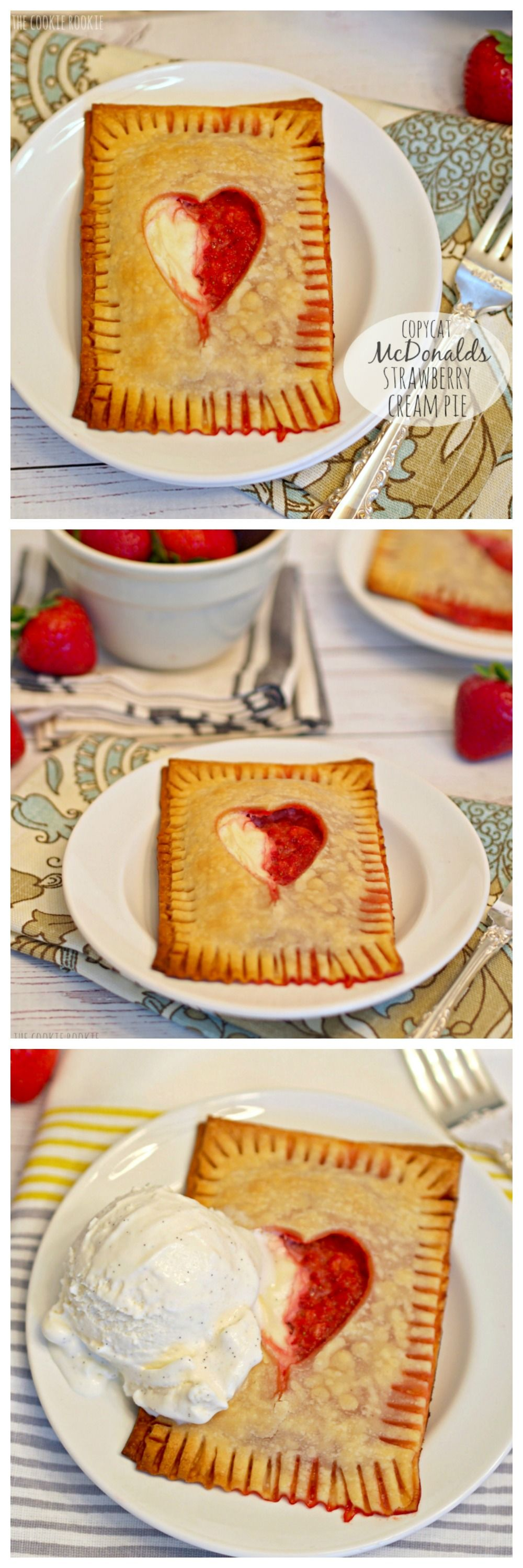 COPYCAT McDonalds Strawberry Cream Pie!! I LOVE THESE!! So cute and easy.  - The Cookie Rookie