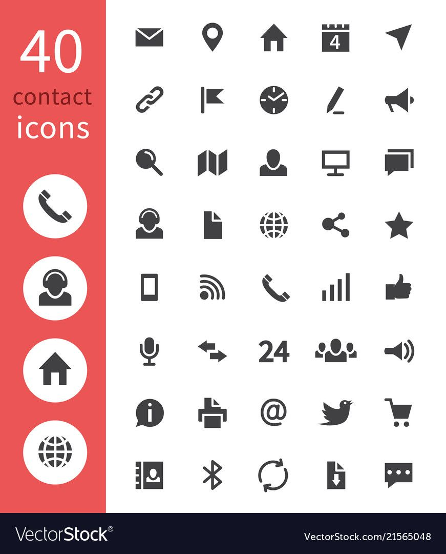 Icons Collection For Business Card Business Card Icons Resume Icons Vector Business Card