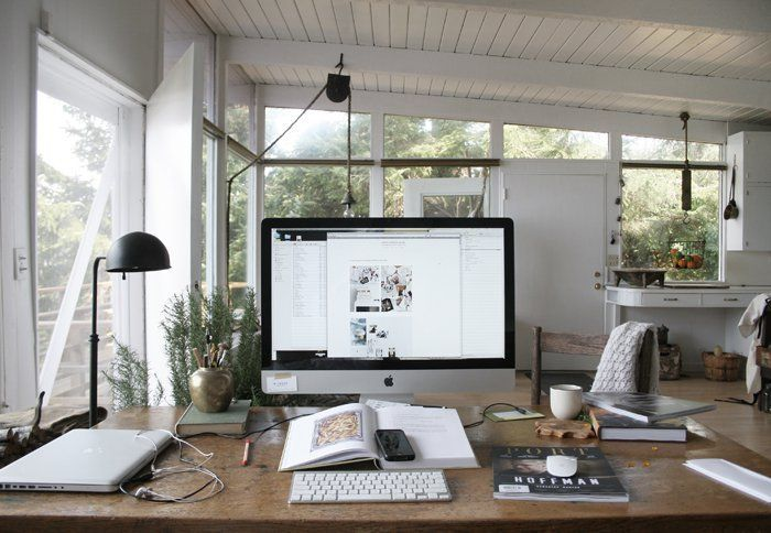 Sérénité et créativité pour ce bureau avec vue deco bureau