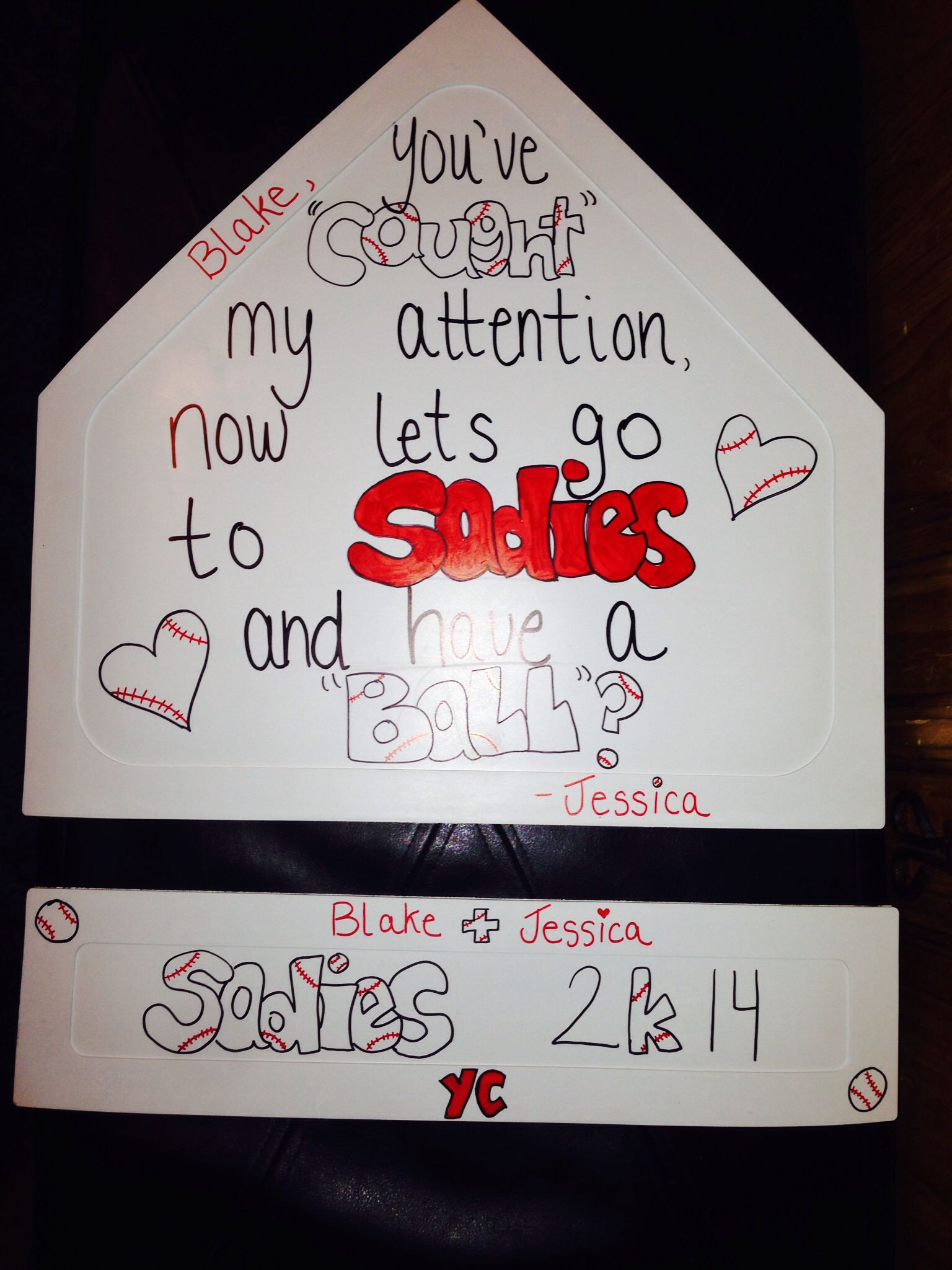 Cute ideas to ask a boy to sadie hawkins - A Way To Ask A Baseball Player To Sadies Sadies Baseball