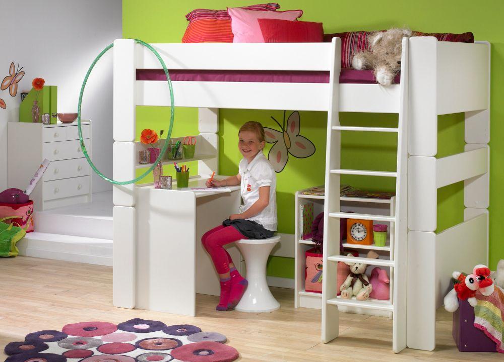 Litera con escritorio debajo habitaciones pinterest - Camas para ninos pequenos ...