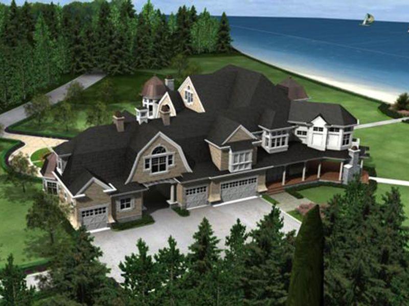 Horton Manor Luxury Home Shingle House Plans House Plans Luxury House Plans