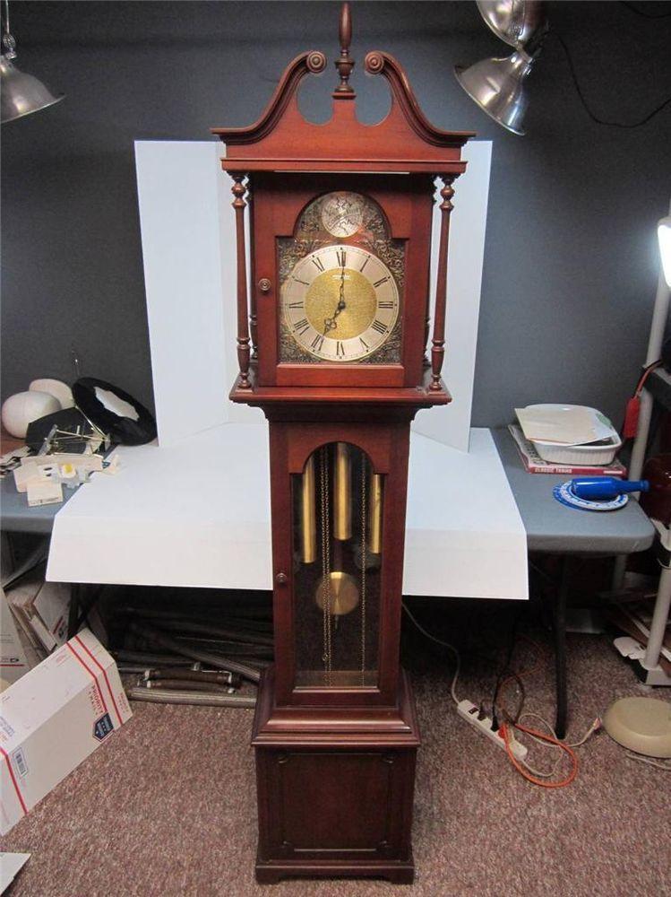 Details About Barwick Tempus Fugit Grandfather Clock