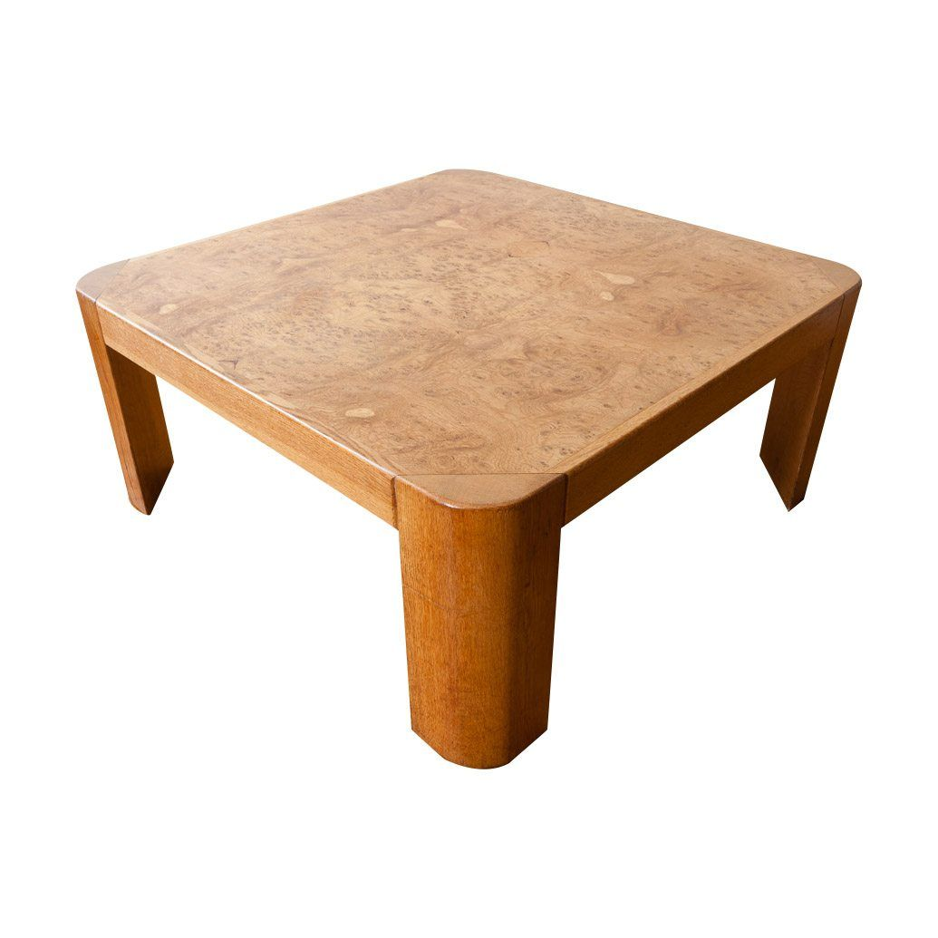 Wonderful Burr Oak Large Square Coffee Table