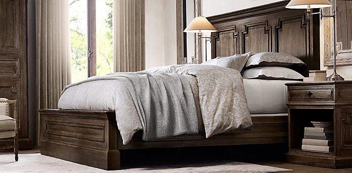 Best Montpellier Bedroom Collection Antiqued Brown Walnut 400 x 300