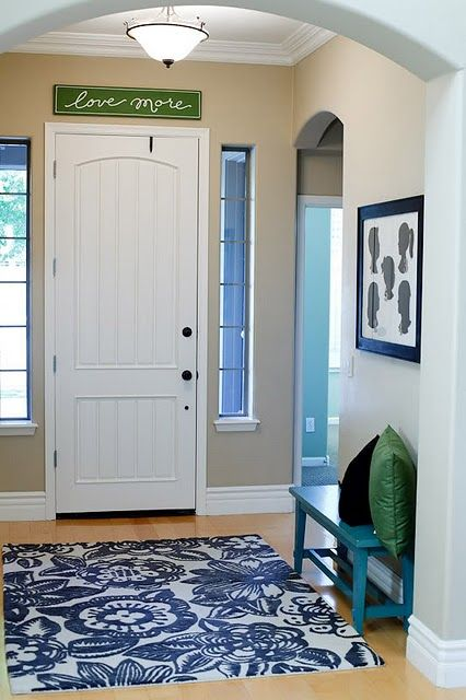 I love this entryway
