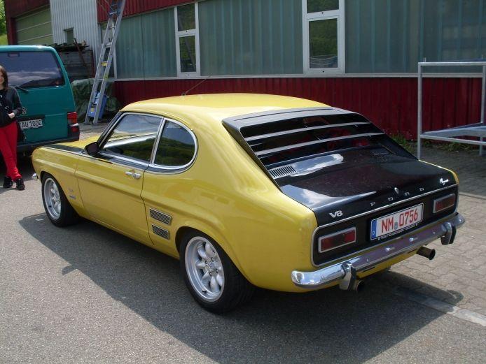 Ford Capri Mk I 1969 1974 1970 Perana V8 Left Rear View With