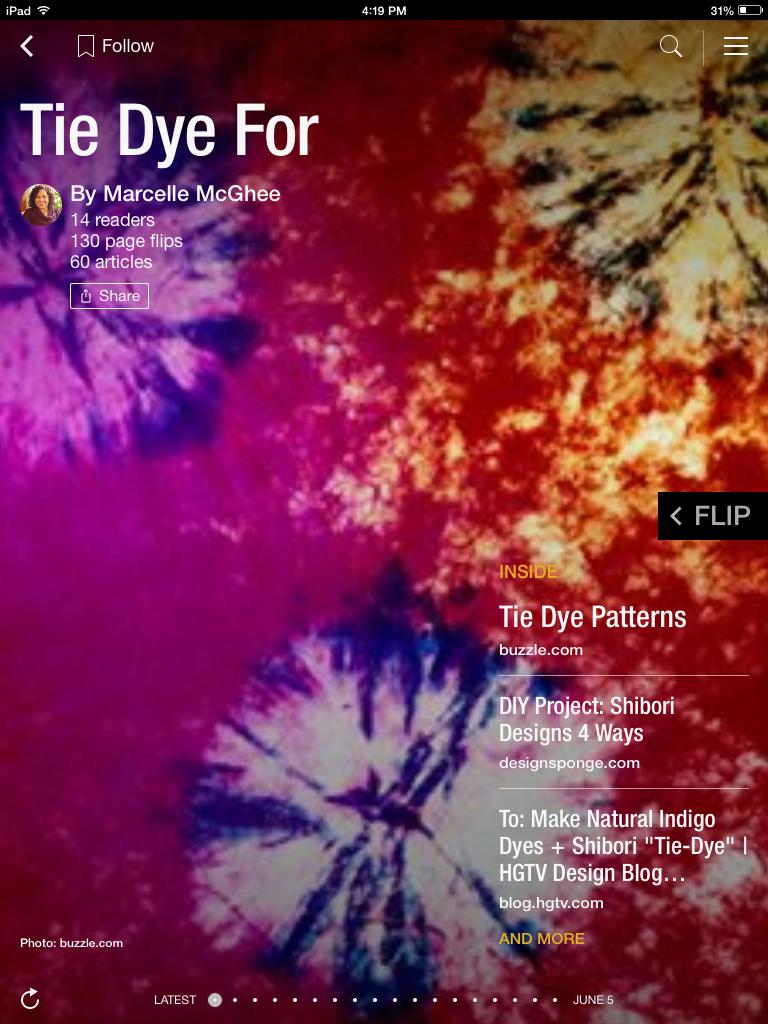 Flip through Tie Dye For by Marcelle McGhee http://flip.it/WD295