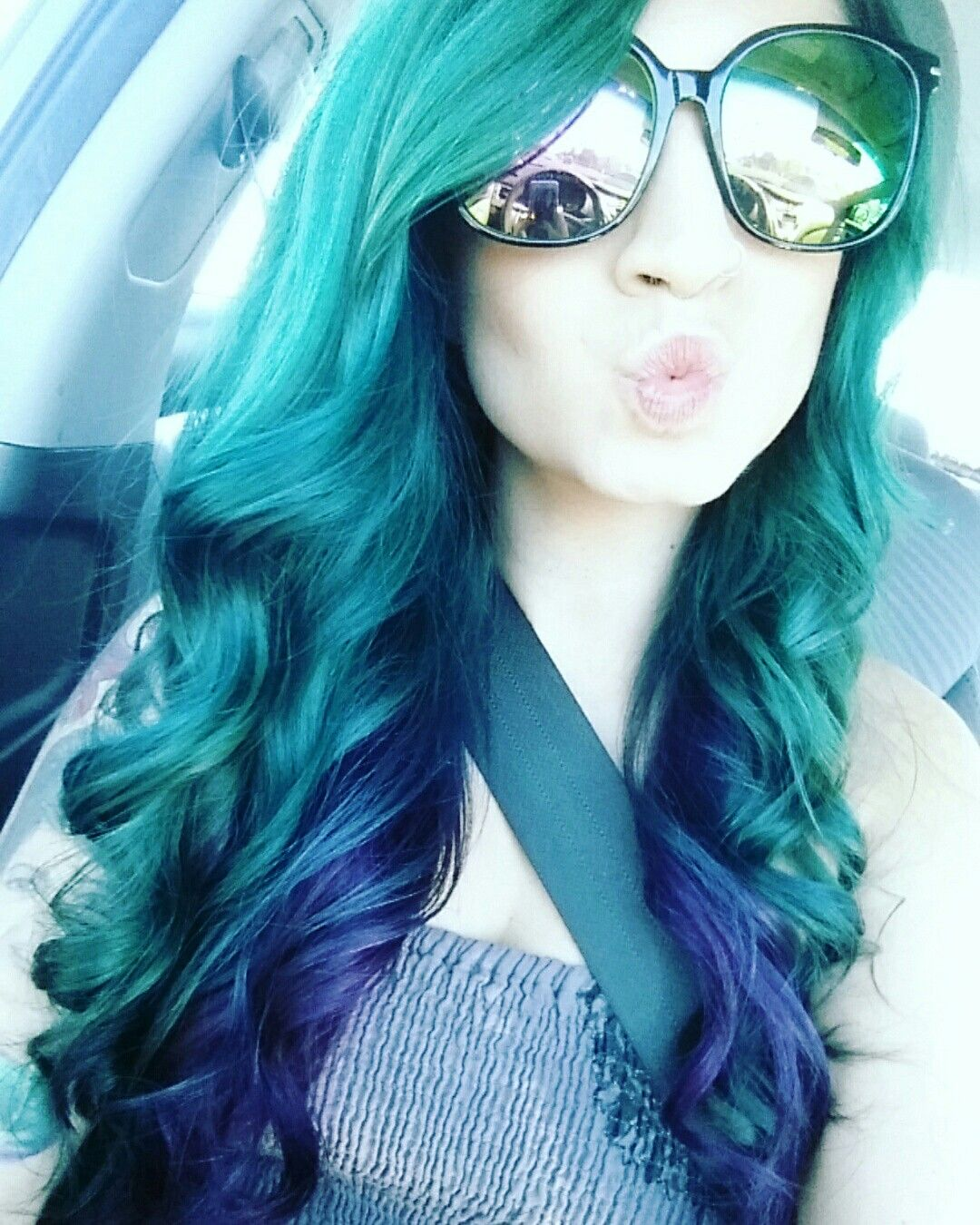 Mermaid Hair Joico Intensity Mermaid Blue Mixed With Peacock Green