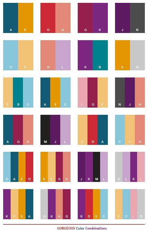 Color Schemes Gorgeous Color Schemes Color Combinations Color