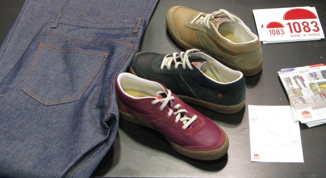 Nouveaux sneakers 1083, tout cuir et