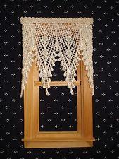 Cream Venise Lace Points Victorian Dollhouse Curtains - 3 W x 3 1/4 L | eBay