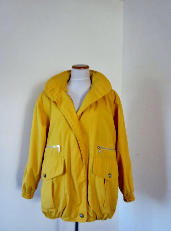 Vintage Rain Coat Bright Yellow Nautical Jacket Rain ...