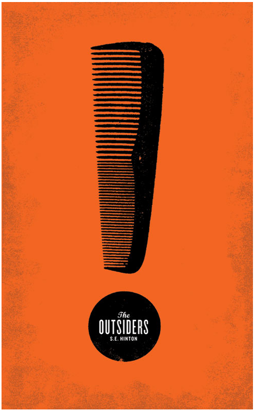 alternate cover for S.E. Hilton's The Outsiders