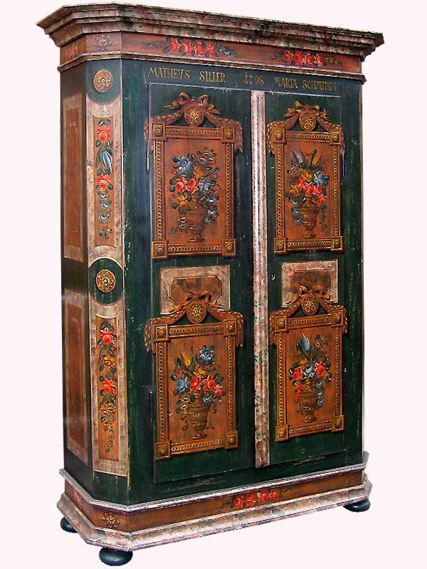 Bemalter Bauernschrank Hand Painted Furniture Painted Furniture