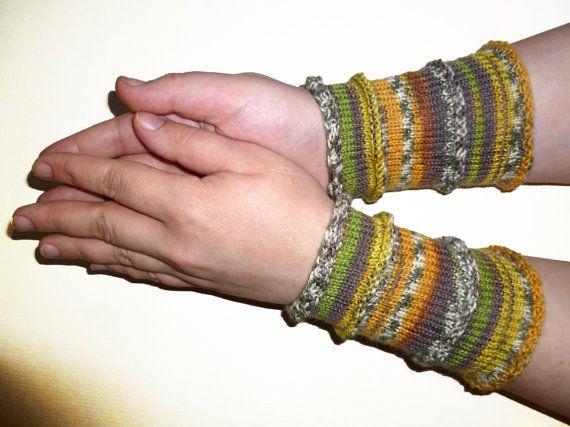 Knit Arm Cuffs Wrist Cuffs Arm Warmers Wrist Warmers