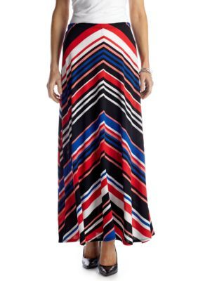 Choices  Abstract Print Stripe Skirt