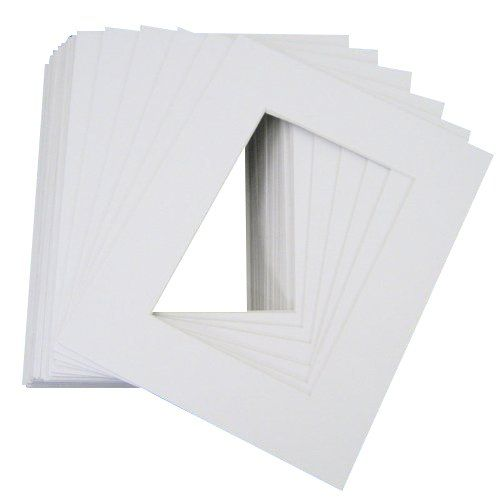 Mat Board Center Pack Of 10 Premier Acidfree Precut 16x20 White Picture Mats For 11x14 Pho Picture Frame Mat Picture Framing Materials Picture Framing Supplies