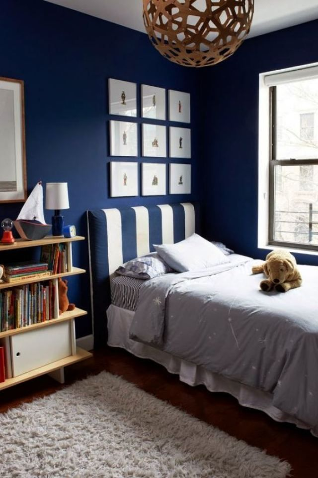 Boy S Bedroom With Symphony Blue Paint Superior Boys Room C