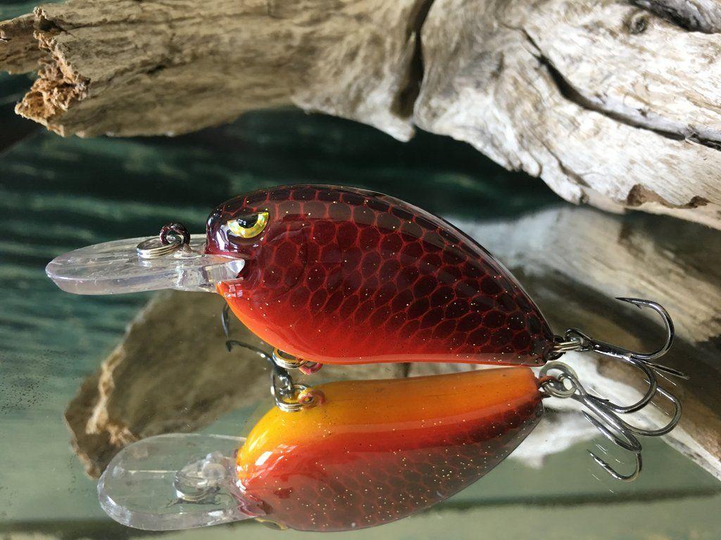 Custom Painted Fishing Crankbait Casting Lure MCB-1.5 Red Racer