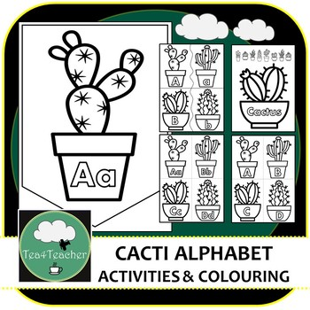 A Fun Range Of Cacti Themed Activities For Kindergarten And Lower Elementary Kids This Will Keep Them Entert Alphabet Matching Alphabet Capital And Lowercase