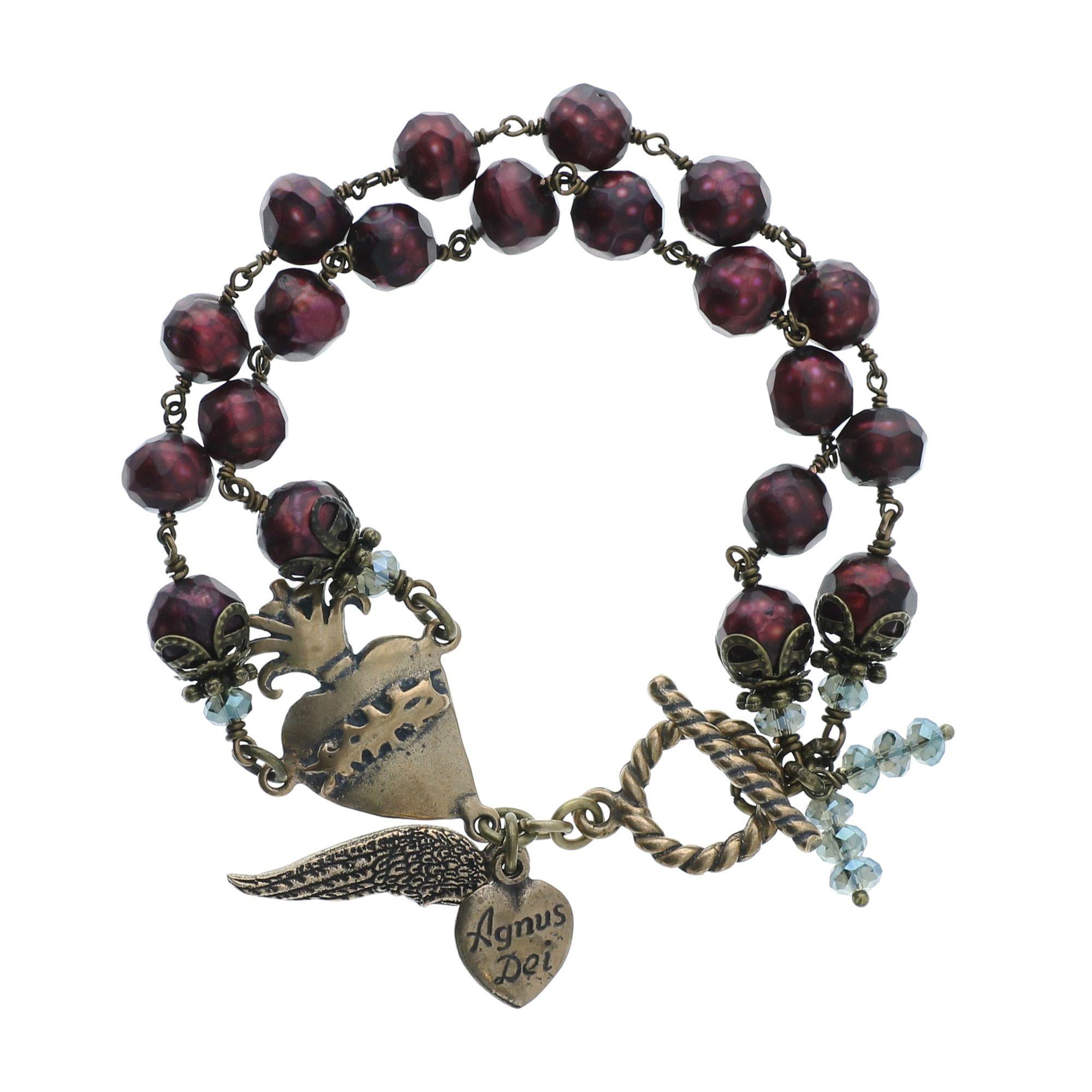 Pope saint john paul ii bronze necklace catholic company rosary