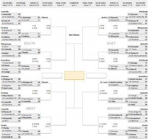 graphic relating to Sweet 16 Printable Bracket identify NCAA Event 2012: March Insanity Lovable 16 Printable