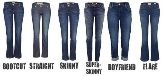 Types Of Jeans A Visual Glossary Types Of Jeans Flare Leg Jeans Women Jeans