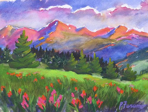 Colorado Landscapes Pam Furumo Rocky Mountain Watercolors