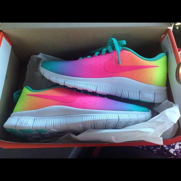 a6f3f67923747 Nike Free Runs 5.0 rainbow ombré