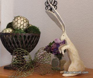 DIY Vintage Looking Rabbit for Spring & Easter Decor #TriplePFeature