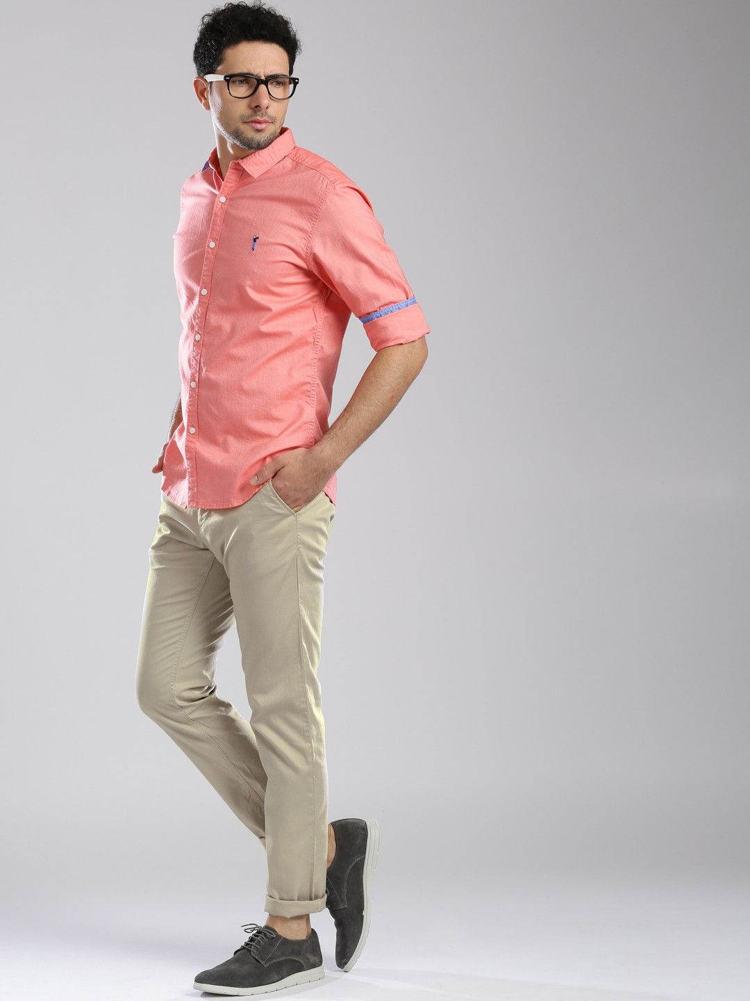 934999a1b694 Bossini Beige Slim Tapered Fit Chino Trousers Little Diffrent Combination !  #solid #chinos #casual