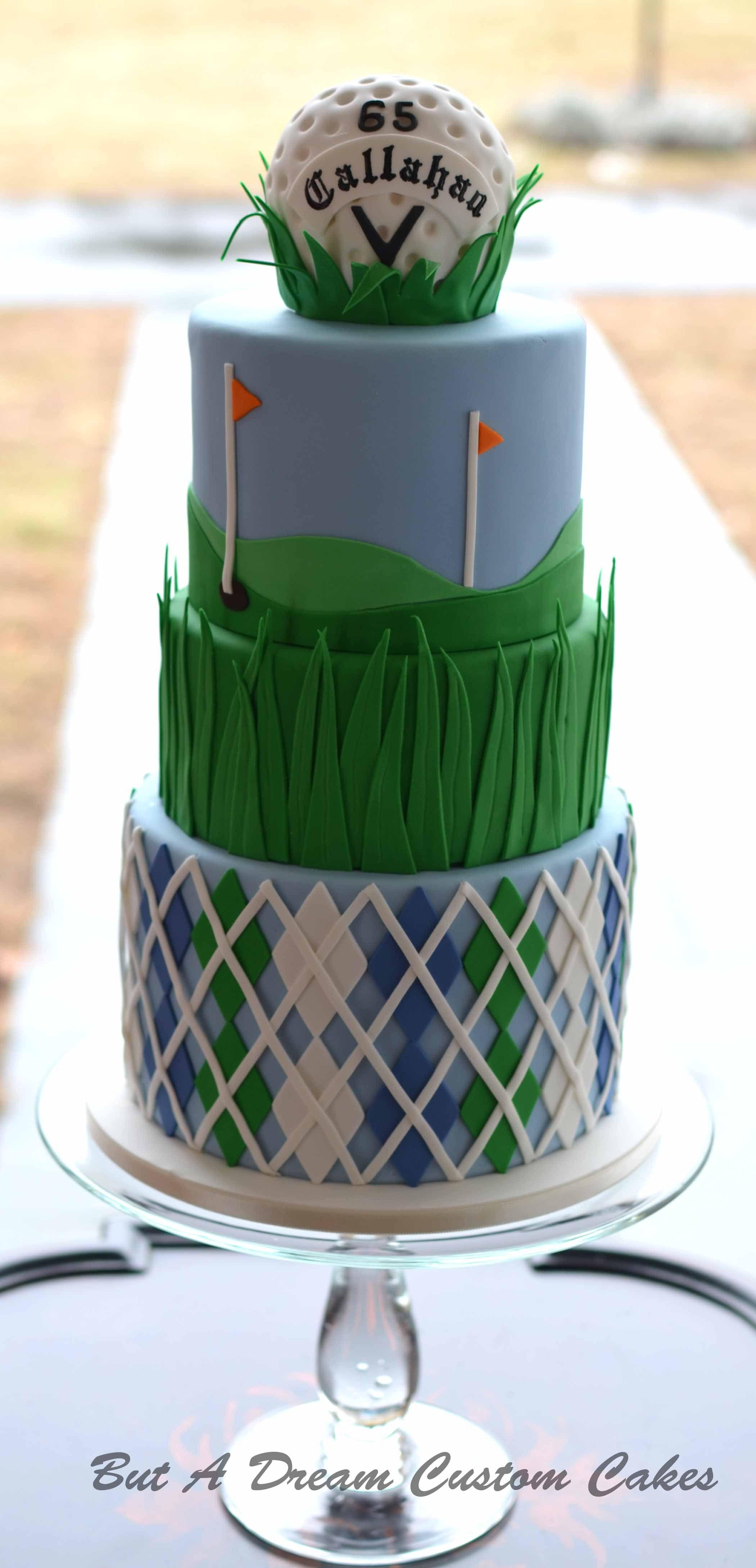 Golf ball birthday cake But A Dream Custom Cakes Pinterest