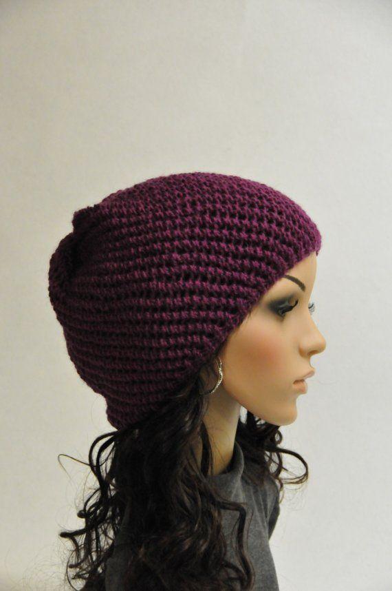Burgundy Wool hat por MaxMelody en Etsy