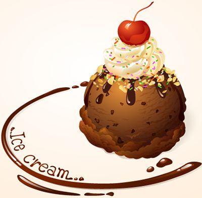 imagen de helado en vector
