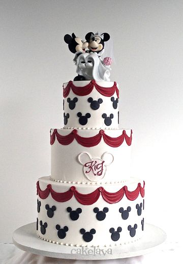mickey and minnie wedding cake | Cakes of all kinds, for every ...