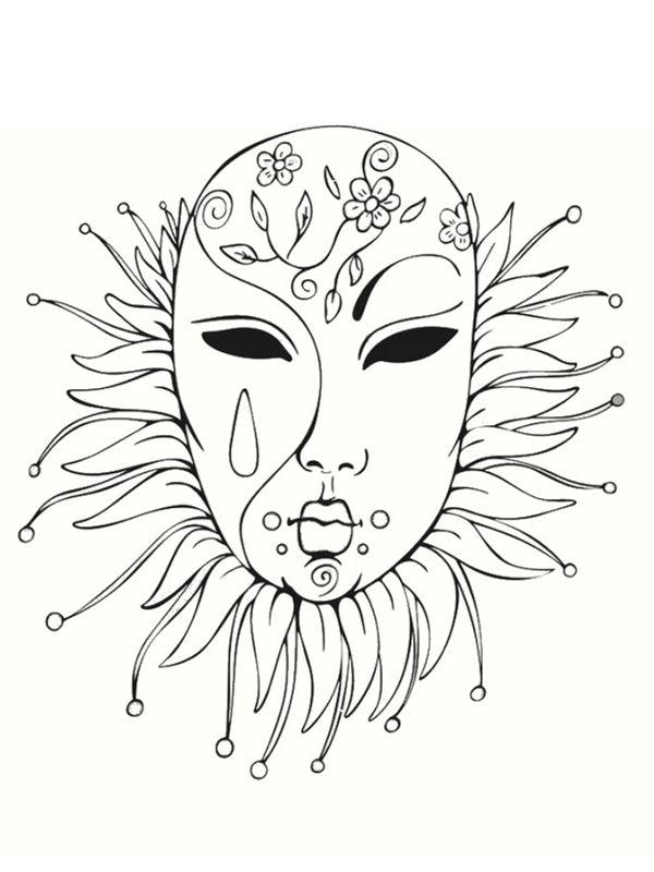 Coloriage de mardi gras d guisements coloriage carnaval coloriage masque et coloriage - Masque de carnaval de venise a imprimer ...