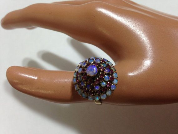 Antique 14K Solid gold Pink Sapphires and Opals by MassTreasures