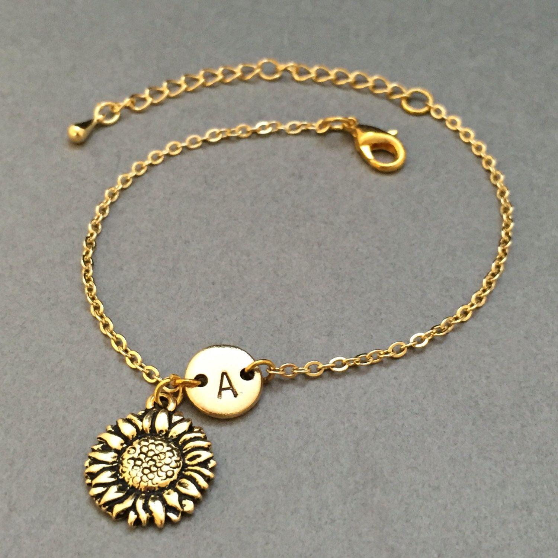 Sunflower charm bracelet sunflower charm adjustable bracelet sunflower charm bracelet sunflower charm adjustable bracelet flower mozeypictures Images