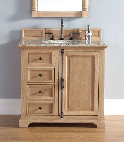 Simple Wood Bathroom Vanities For A Relaxed Cottage Style Bathroom