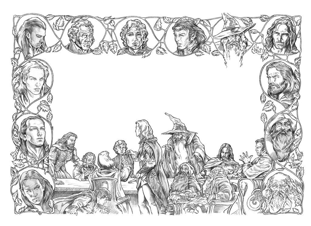 year 2941 ? the hobbit october 22 bilbo and the dwarves still wait ... - Hobbit Dwarves Coloring Pages