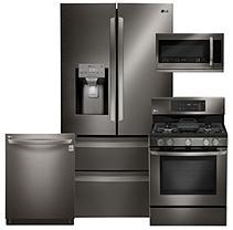 LG 4pc Kitchen Suite - LMXS28626D, LRG3193BD, LMHM2237BD