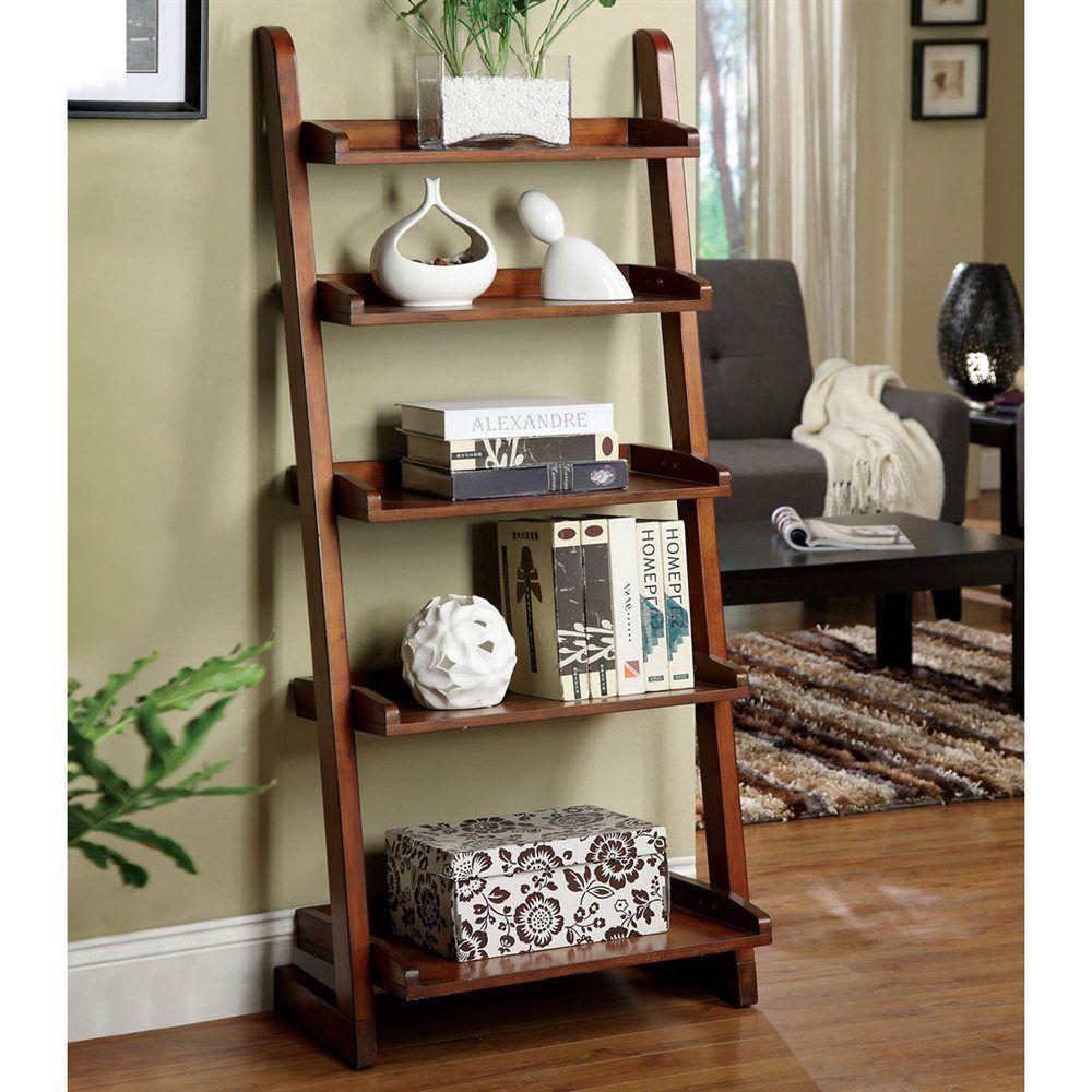 image ladder bookshelf design simple furniture. Hokku Designs Lugo Bookcase/Storage Cabinet In Antique Oak Image Ladder Bookshelf Design Simple Furniture ,