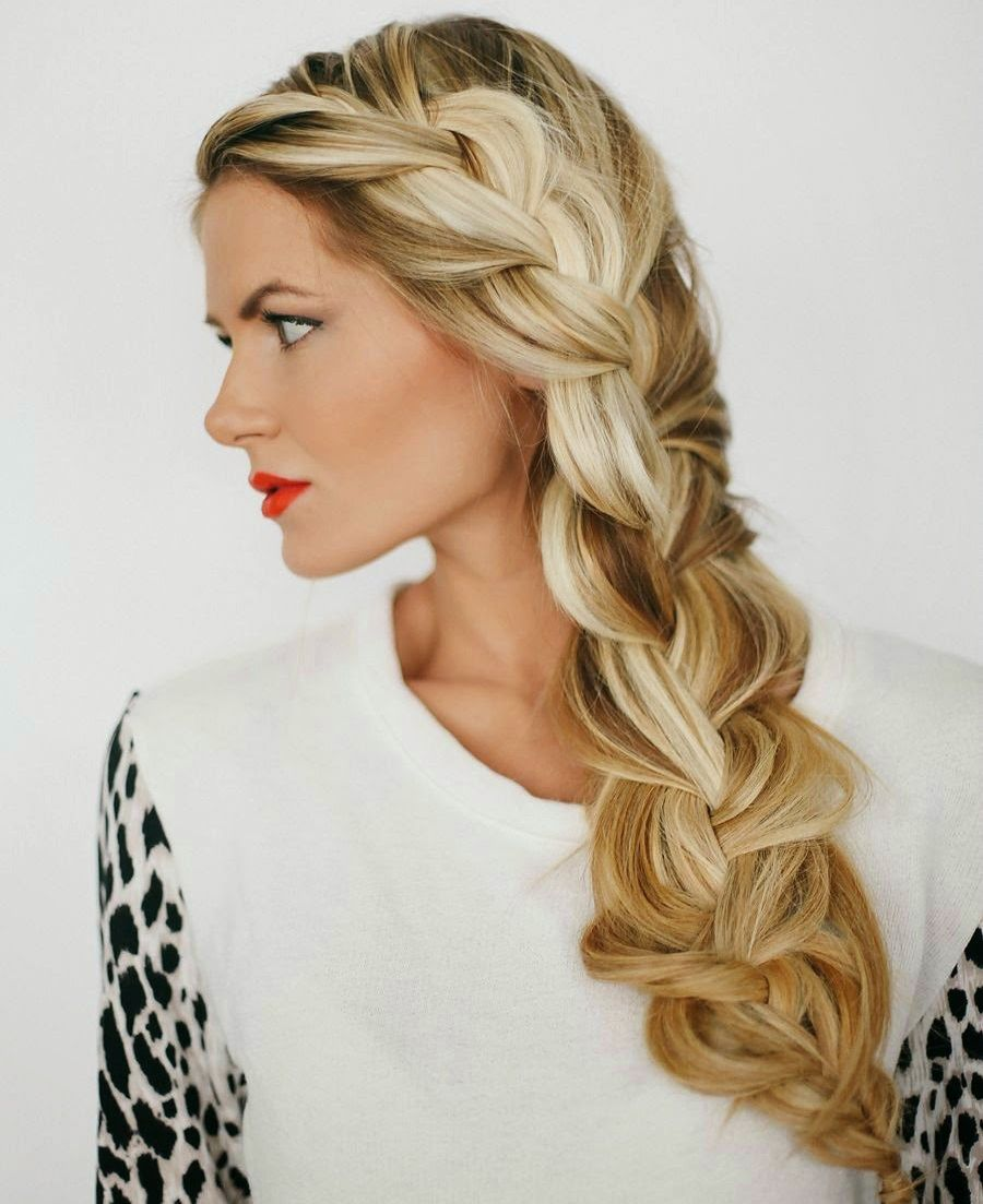 chic loose side braided hairstyles