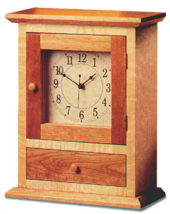 Shaker Clock Plans The Barley Harvest Woodworking Wood