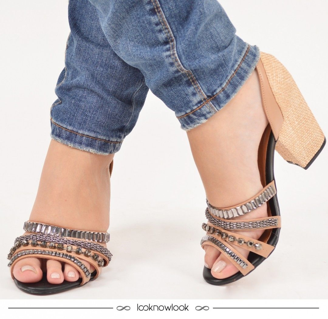 {link no perfil para comprar} Sandália linda com pedrarias e salto revestido em palha!Aproveite todos os calçados com 10% de desconto e adquira a sua por um preço incrível. É só acessar o link direto do nosso perfil (na bio): @looknowlook  #moda #calçados #sandália #shoes #sotd #pedrarias #estilo #ecommerce #lojaonline #shop #lnl #looknowlook url:http://goo.gl/64UwtY by looknowlook