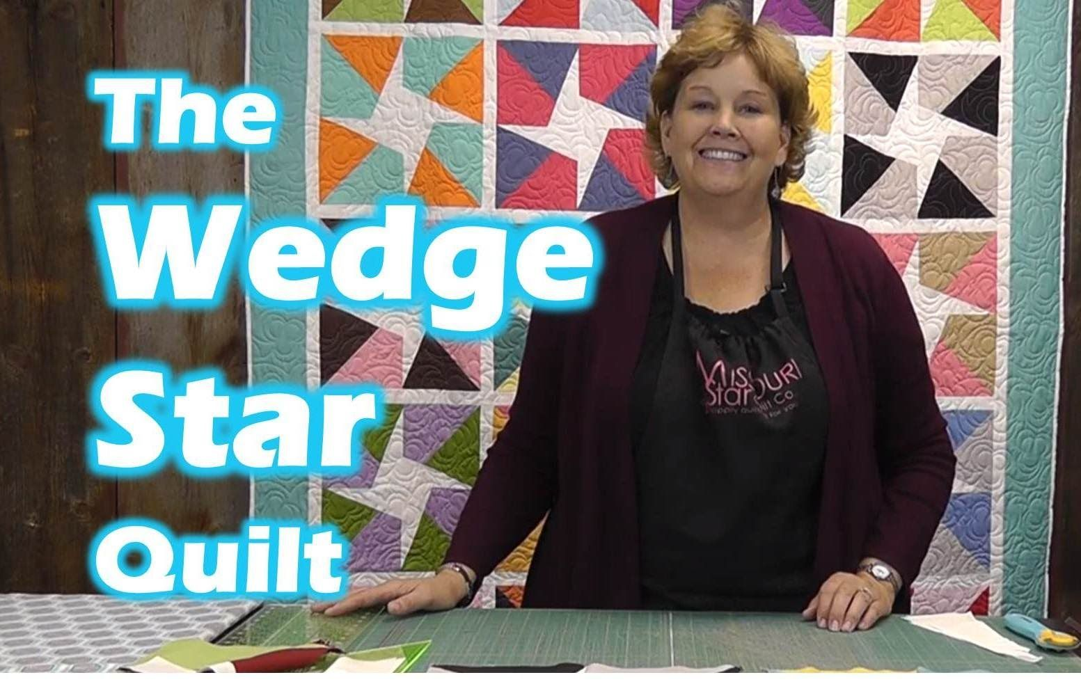 How to make the Wedge Star Quilt - 1 colored layer cake & 1 white one.