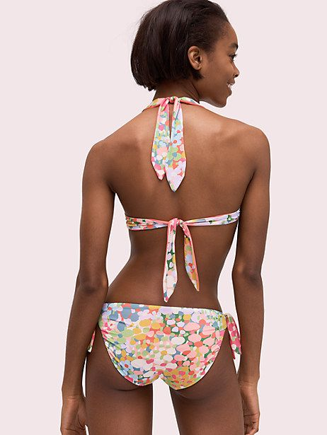 7ed0f413714eb Kate Spade Floral Dots Reversible Bikini Top, Size XL in 2019 ...