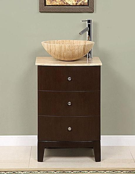 20 Small Bathroom Vanities That Are Big on Style Vessel sink - Vessel Sinks Bathroom